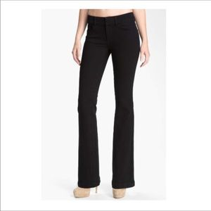 Paige Black High Rise Kennedy Bootcut Denim Jeans